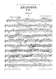 Струнный квинтет ре мажор, Op.10: Струнный квинтет ре мажор by Рихард фон Пергер