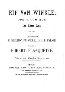 Рип ван Винкль: Переложение для голосов и фортепиано by Робер Планкетт