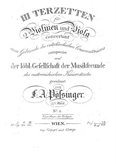 Drei Terzetten für zwei Violinen und Bratsche, Op.37: Trio Nr.2 in G-Dur by Франц Александр Поссингер