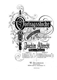 Адажио для виолончели (или скрипки) и фортепиано, Op.15: Партитура by Prince Joachim Albrecht of Prussia
