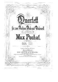 Струнный квартет фа мажор, Op.25: Партитура by Max Puchat