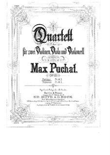 Струнный квартет фа мажор, Op.25: Партии by Max Puchat