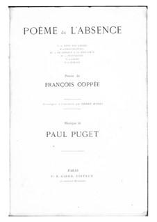 Poème de l'absence: No.1-2 by Поль Пюже