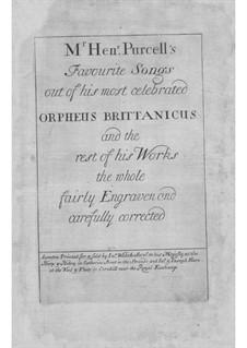 Orpheus Brittanicus: Orpheus Brittanicus by Генри Пёрсел