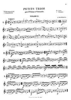 Пятнадцать маленьких струнных трио: Скрипка II by Иоганн Вангал