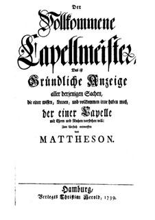 Совершенный капельмейстер: Совершенный капельмейстер by Иоганн Маттезон