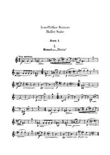 Балетная сюита на темы из опер 'Платея' и 'Торжества Гебы': Партии валторн by Жан-Филипп Рамо