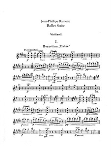 Балетная сюита на темы из опер 'Платея' и 'Торжества Гебы': Партии скрипок by Жан-Филипп Рамо