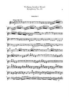 Симфония No.25 соль минор, K.183: Партии скрипок by Вольфганг Амадей Моцарт