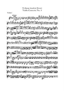 Концерт для скрипки с оркестром No.4 ре мажор, K.218: Партии скрипок by Вольфганг Амадей Моцарт