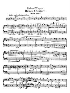 Риенци, или Последний трибун, WWV 49: Увертюра – партия виолончелей и контрабаса by Рихард Вагнер