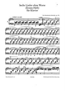 Песни без слов, Op.19b: Сборник by Феликс Мендельсон-Бартольди