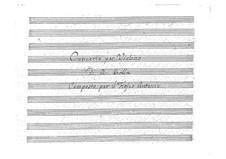 Концерт для скрипки с оркестром ре мажор, BI 510: Концерт для скрипки с оркестром ре мажор by Алессандро Ролла