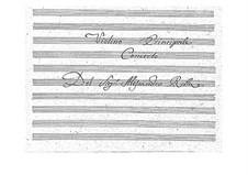 Концерт для скрипки с оркестром соль мажор, BI 520: Партии скрипок и виолончели by Алессандро Ролла
