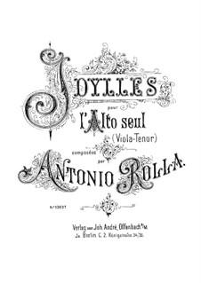 Шесть идиллий: Для альта by Антонио Ролла