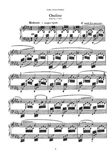 Ундина. Этюд ре-бемоль мажор, Op.1: Ундина. Этюд ре-бемоль мажор by Антон Рубинштейн