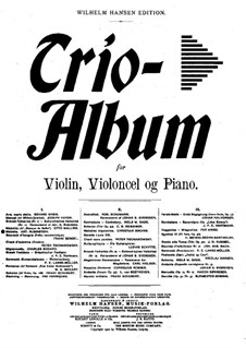 Две мелодии, Op.3: Мелодия No.1, для скрипки, виолончели и фортепиано by Антон Рубинштейн