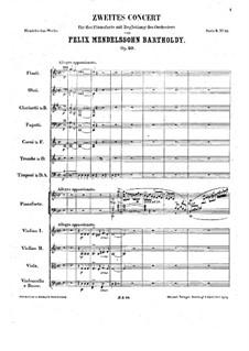Концерт для фортепиано с оркестром No.2 ре минор, Op.40: Часть I by Феликс Мендельсон-Бартольди