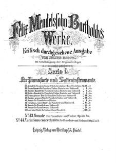 Соната для скрипки и фортепиано фа минор, Op.4: Партитура by Феликс Мендельсон-Бартольди