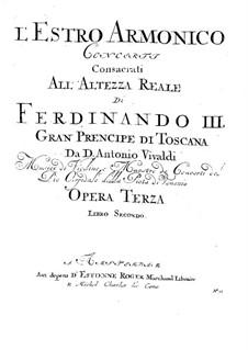Концерт для четырех скрипок, виолончели и струнных No.7 фа мажор, RV 567: Партия III скрипки by Антонио Вивальди