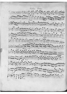 Концерт для четырех скрипок, виолончели и струнных No.7 фа мажор, RV 567: Партии by Антонио Вивальди