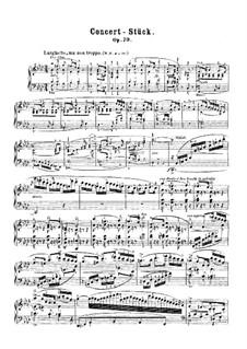 Концертная пьеса для фортепиано с оркестром, J.282 Op.79: Сольная партия by Карл Мария фон Вебер