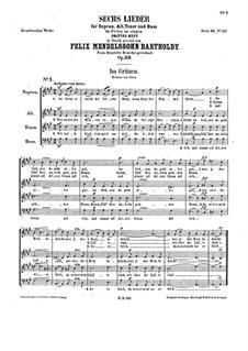 Шесть песен, Op.59: Сборник by Феликс Мендельсон-Бартольди