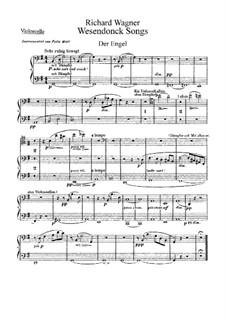 Пять песен на стихи Матильды Везендонк, WWV 91: Для голоса с оркестром – партия виолончелей by Рихард Вагнер