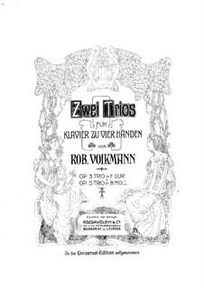 Фортепианное трио No.2 си-бемоль минор, Op.5: Для фортепиано в 4 руки by Роберт Фолькманн