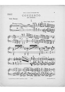 Концерт для арфы с оркестром до минор, Op.35: Версия для арфы и фортепиано – Партия арфы by Альберт Цабель