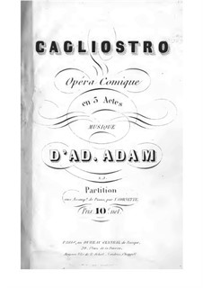 Калиостро: Акт I, клавир с вокальной партией by Адольф Адам