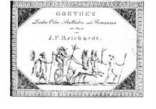 Песни, оды, баллады и романсы: Книга I by Иоганн Фридрих Рейхардт
