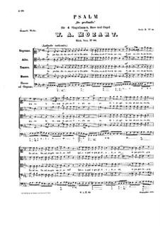 De profundis clamavi, K.93: De profundis clamavi by Вольфганг Амадей Моцарт
