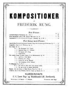 Две народные песни для голоса и фортепиано, Op.21: Две народные песни для голоса и фортепиано by Фредерик Рунг