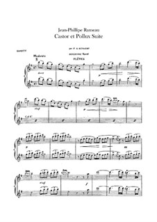 Сюита для оркестра: Партии флейт by Жан-Филипп Рамо