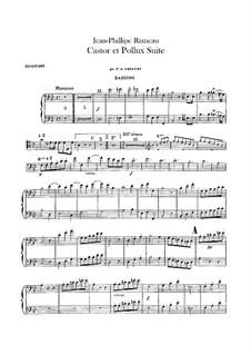 Сюита для оркестра: Партии фаготов by Жан-Филипп Рамо