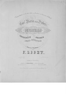 Увертюра: Для фортепиано, S.574 by Карл Мария фон Вебер