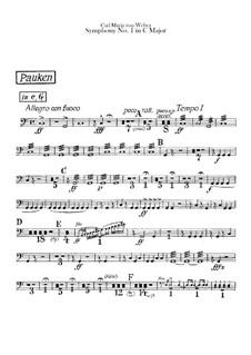 Симфония No.1 до мажор, J.50 Op.19: Партия литавр by Карл Мария фон Вебер