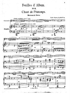 Chant de printemps for Violin and Piano, Op.28 No.5: Chant de printemps for Violin and Piano by Эмиль Соре