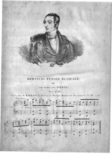 Weber's Last Waltz, Op.26 No.5: Для фортепиано by Карл Готлиб Райсигер