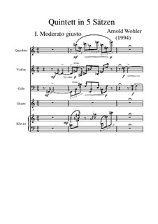 Quintett in fünf Sätzen, Op.5: Quintett in fünf Sätzen by Arnold Wohler