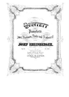 Фортепианный квинтет до мажор, Op.114: Фортепианный квинтет до мажор by Йозеф Габриэль Райнбергер