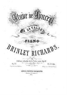 Transcription of Popular Melodies: Концертный этюд фа-диез мажор, Op.37 by Бринли Ричардс