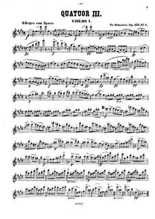 Струнный квартет No.11 ми мажор, D.353 Op.125 No.2: Скрипка I by Франц Шуберт