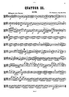 Струнный квартет No.11 ми мажор, D.353 Op.125 No.2: Партия альта by Франц Шуберт