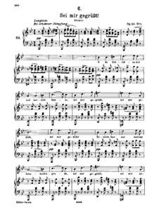 Sei mir gegrüsst (I Greet You), D.741 Op.20 No.1: Клавир с вокальной партией by Франц Шуберт