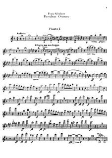 Фьеррабрас, D.796: Увертюра – партии флейт by Франц Шуберт