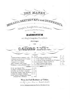 No.9 Её портрет: Для фисгармонии и фортепиано – партия фисгармонии by Франц Шуберт