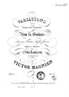 Вариации для гитары, Op.15: Вариации для гитары by Victor Magnien