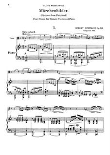 Сказочные картины, Op.113: Партитура by Роберт Шуман